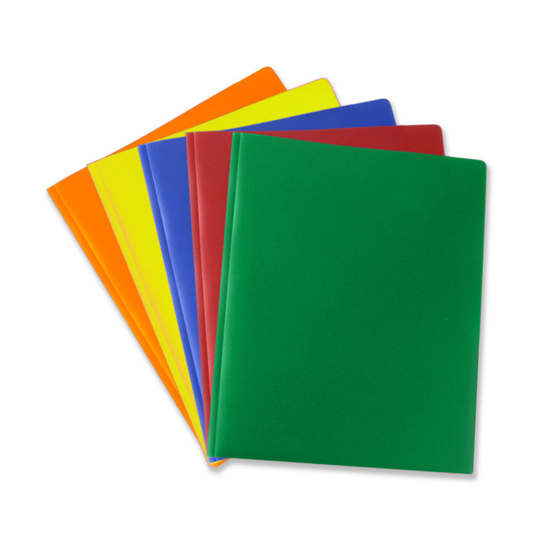 Wholesale School Supplies Poly Plastic Folders with Brads Sold in Bulk