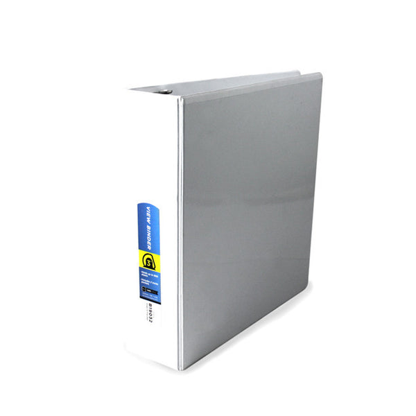 "White Wholesale School Supplies 3"" D-Ring View Binder Sold in Bulk"
