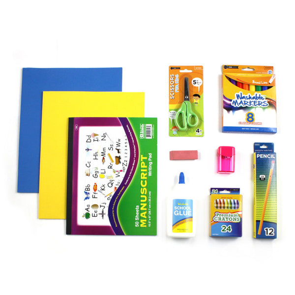 Headstart School Supply Kits with Crayons in Bulk