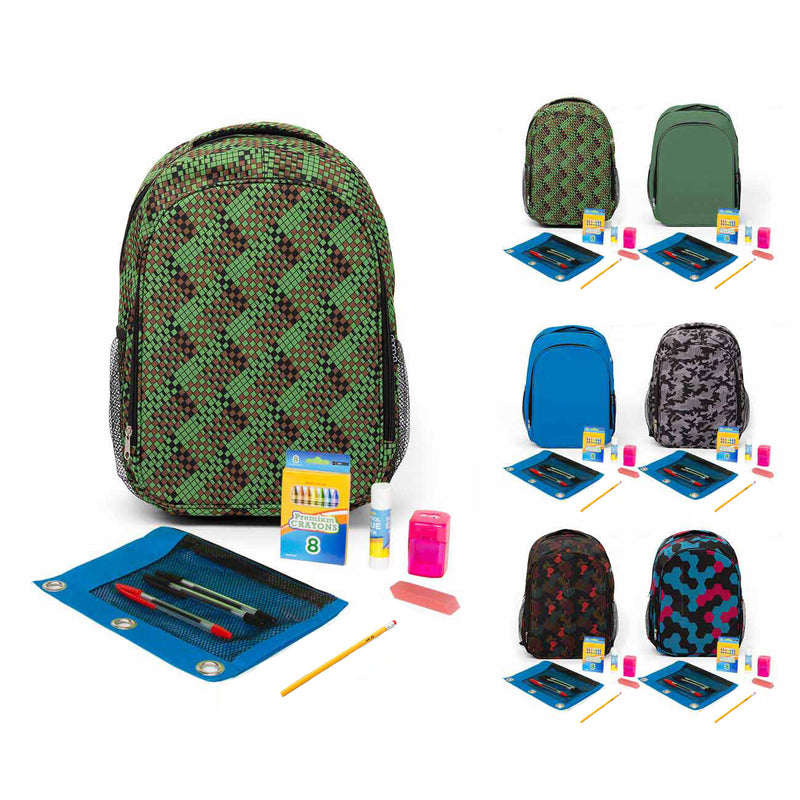 School Supply Kit In Backpack With Saber Color Combination Option