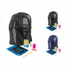 Mesh Backpack With School Supply Kit Inside for Students In Classroom