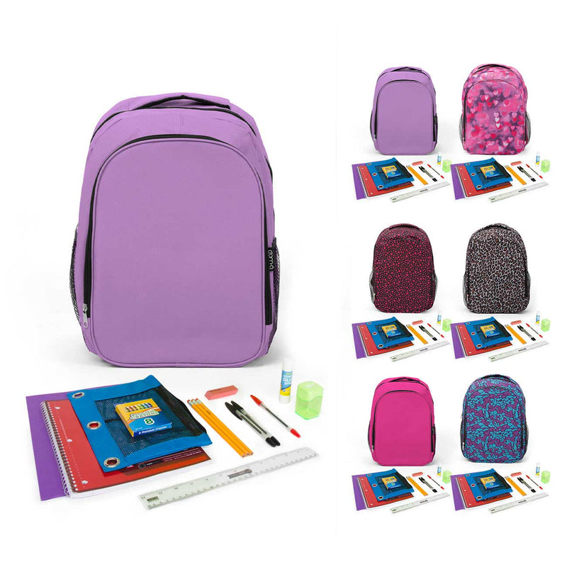 "PreK-5th Student Kit (21 Pieces) in 17"" Intermediate Backpack"