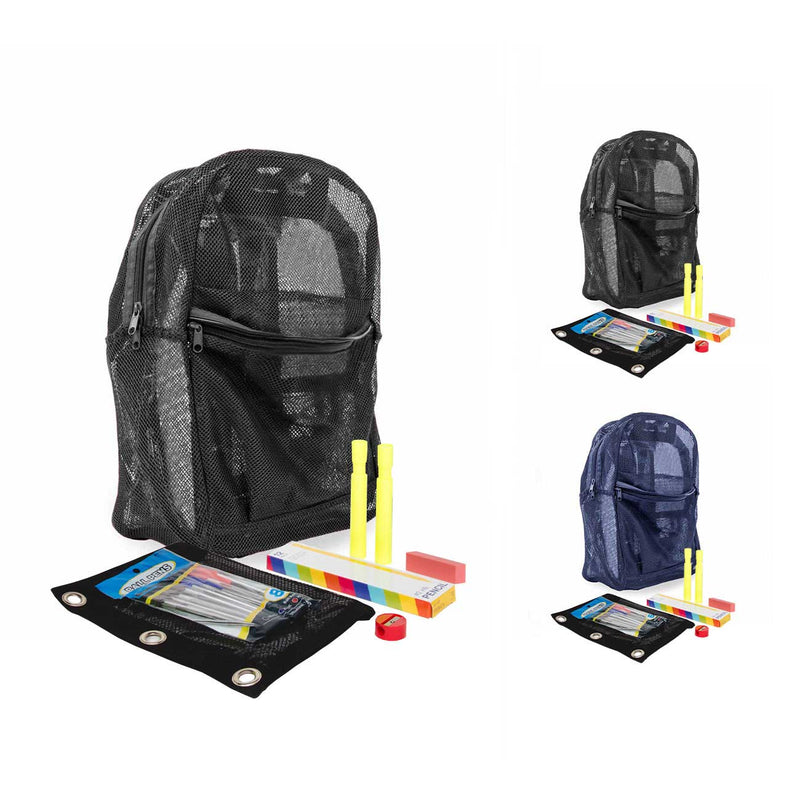 "6th-12th Grade Student Kit (25 Piece) in 18"" Mesh Backpack"
