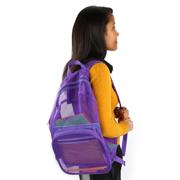 Pink/Purple - BP0782 18 Inch Mesh Bulk Backpacks