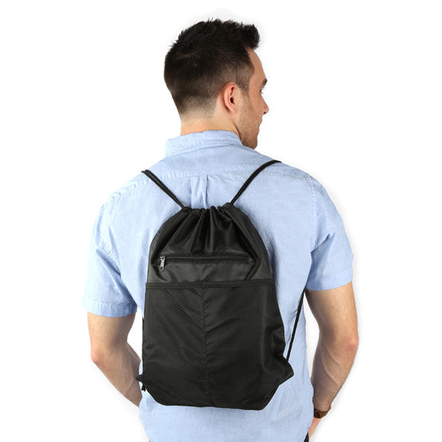 Black - BP1122 18 Inch Drawstring Backpacks