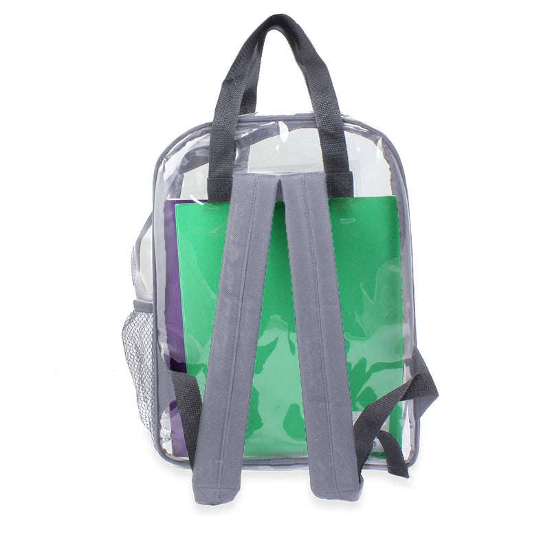 Gray Discount 18 inch PVC Bulk Backpacks