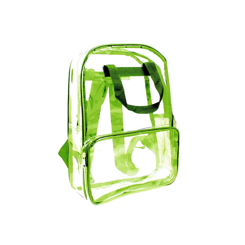 Green Wholesale 18 inch Clear Bulk Backpacks