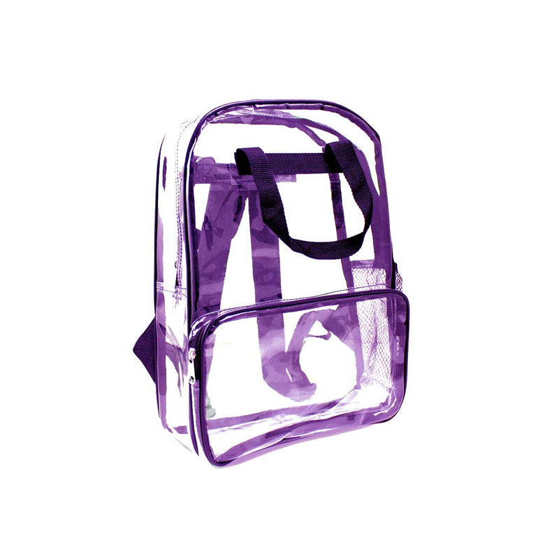 Purple Wholesale 18 inch Clear Bulk Backpacks