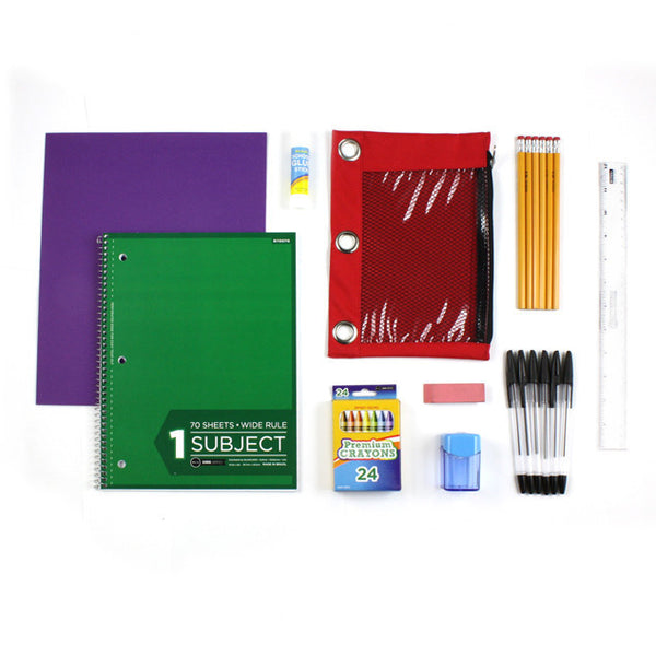 Starter Kit of Bulk School Supplies and Crayons