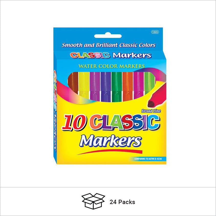 Broad Line Washable Markers