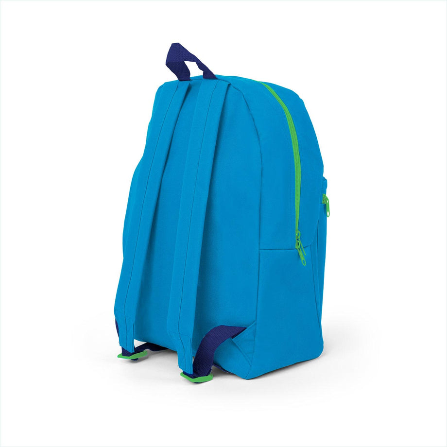 Combo 1 - BP0585 Wholesale Blue 16 inch Standard Backpacks Sold as Bags in Bulk