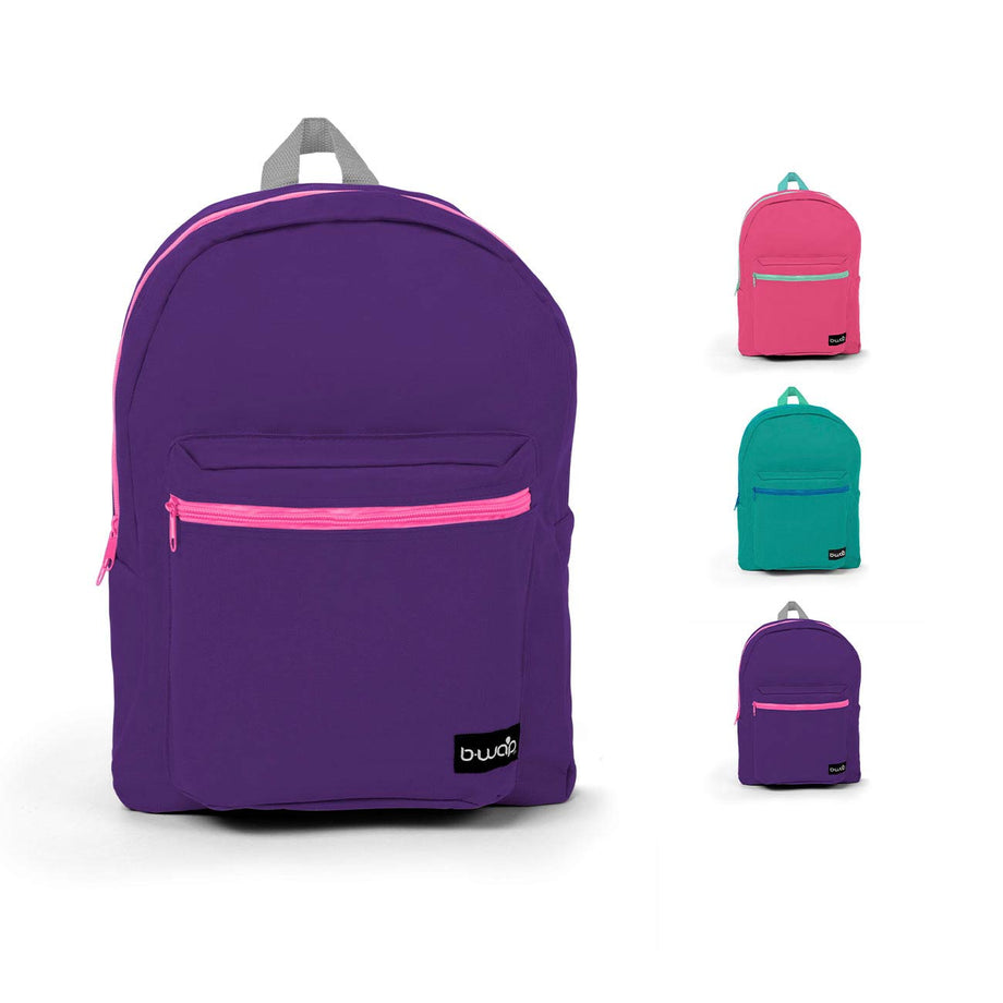 Combo 2 - BP0586 Wholesale 16 Inch Standard Backpack in Bulk