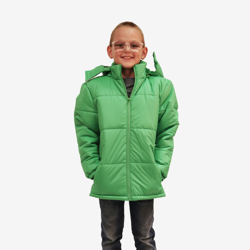 Wholesale Child Coat Classic Combo in Classic Green Sold in Bulk