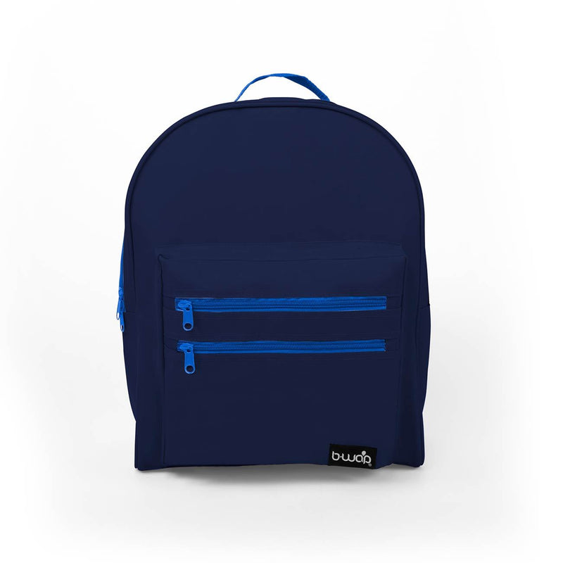 Deep Sea Blue Wholesale 16 inch Classic Bulk Backpacks