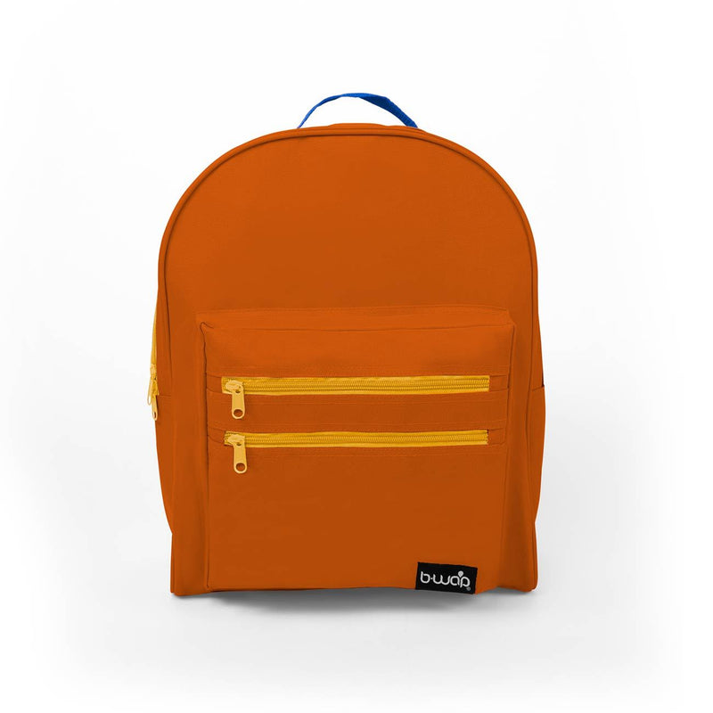 Galaxy Orange Wholesale 16 inch Classic Bulk Backpacks