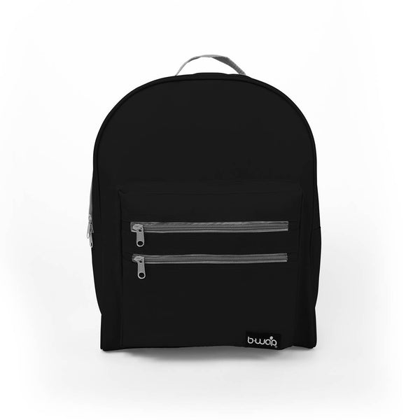 Midnight Black Wholesale Black 16 inch Classic Bulk Backpacks