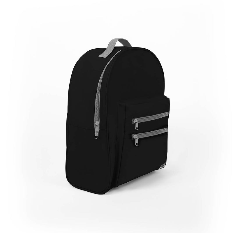 Midnight Black Discount 16 inch Classic Backpacks Sold in Bulk
