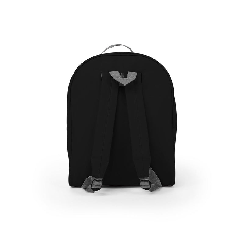 Midnight Black Discount 16 inch Classic Bulk Backpacks Back View