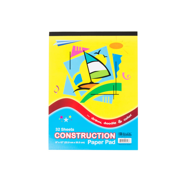 9 Inch by 12 Inch Construction Paper Sold in Bulk For School Supplies