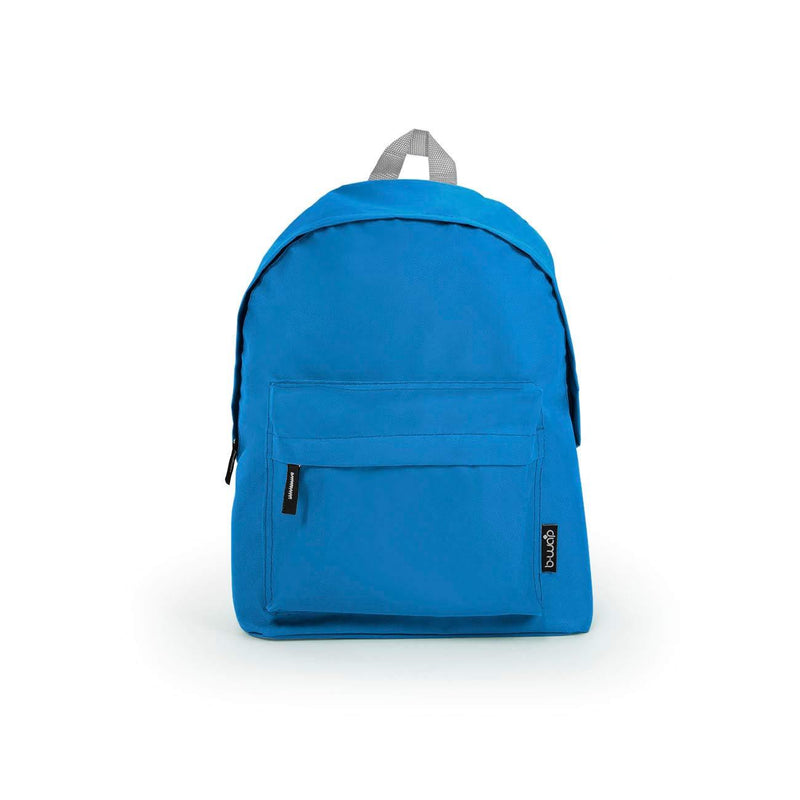 Sky Blue Wholesale Standard Backpack Sold in Bulk