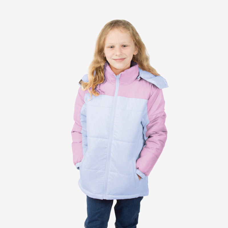 Blush Combo Wholesale Girl Puffer Coat in Twilight Twinkle Sold in Bulk