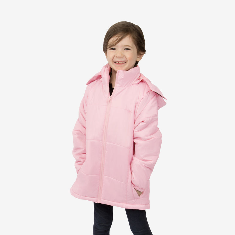 Flamingo Combo Wholesale Girl Puffer Pink Coats Sold in Bulk