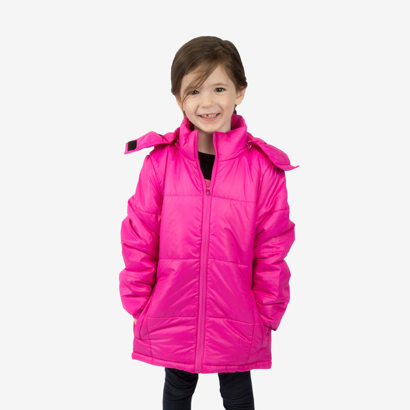 Flamingo Combo Wholesale Girl Puffer Hot Pink Coats Sold in Bulk