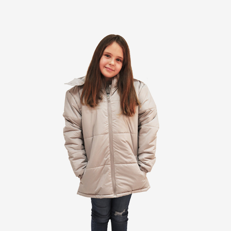 Wholesale Child Coat Classic Combo in Gray Sold in Bulk