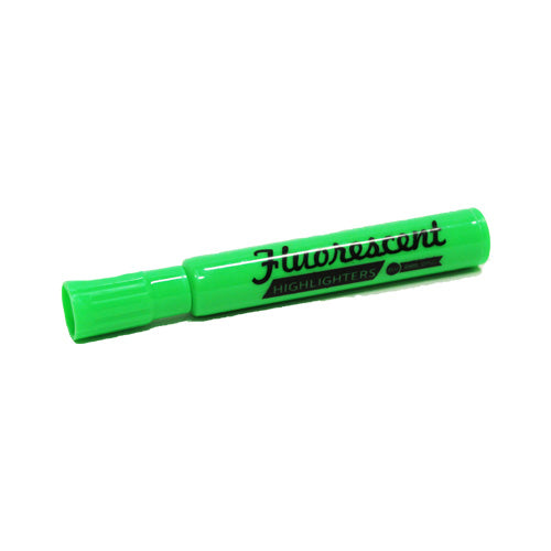 Green Marking Highlighter Fluorescent Chisel Tipped
