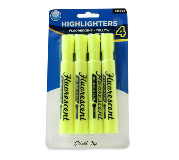 Wholesale School Supplies Yellow Highlighters Sold in Bulk