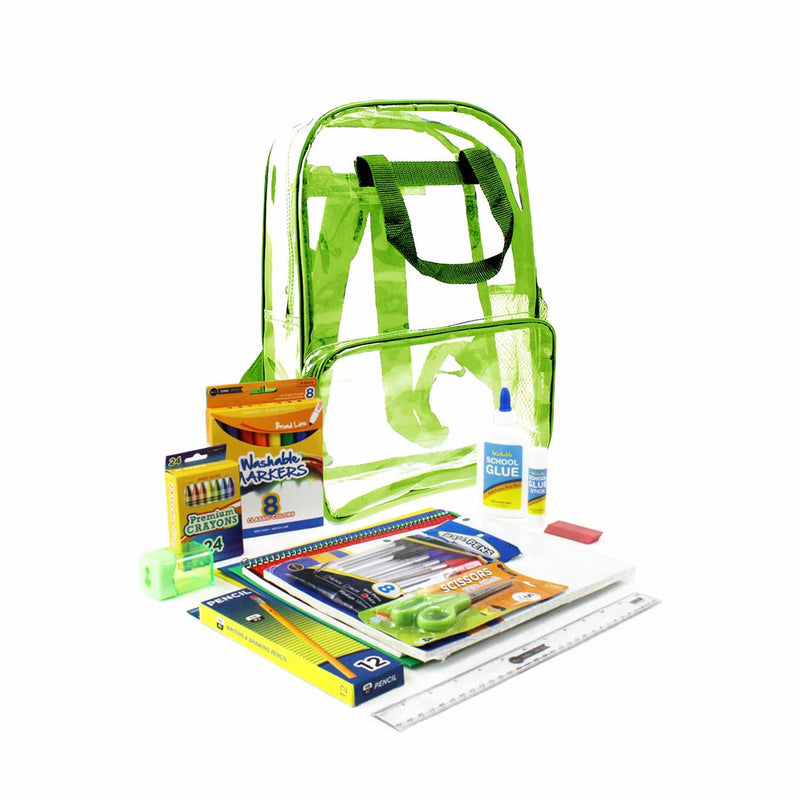 Green Clear PVC Backpack