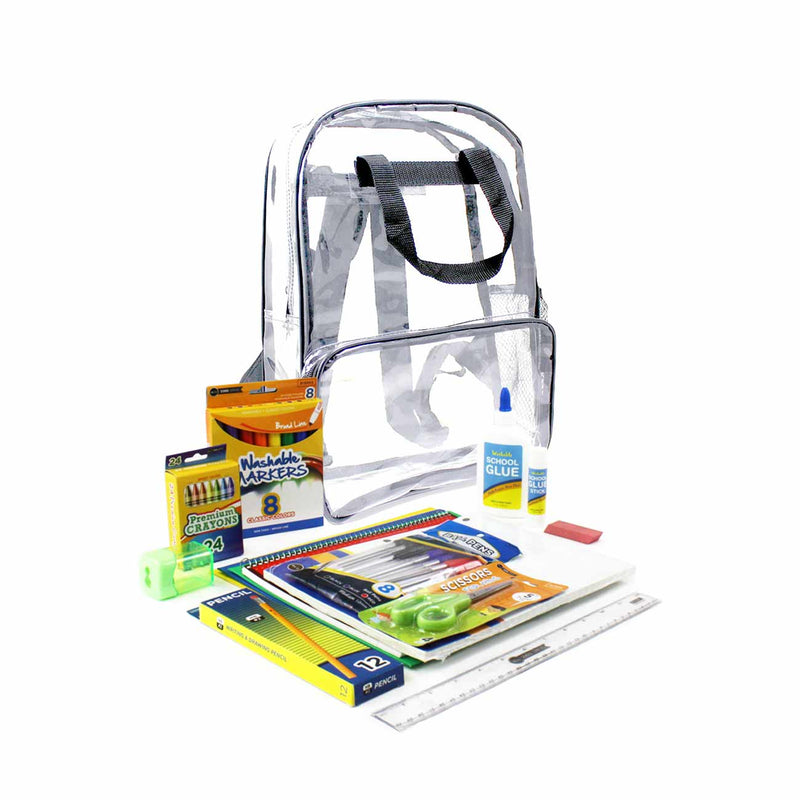 Gray Clear PVC Backpack