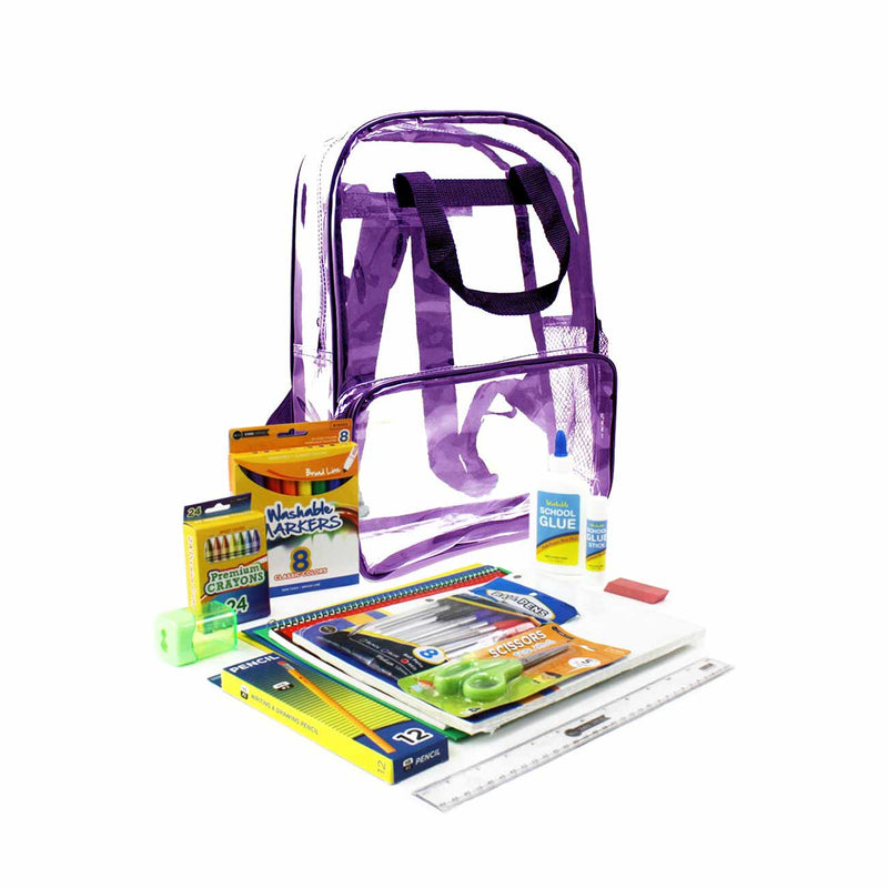 Purple Clear PVC Backpack