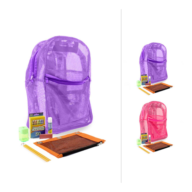 "Basic Elementary Kit (30 Piece) in 18"" Mesh Backpack"