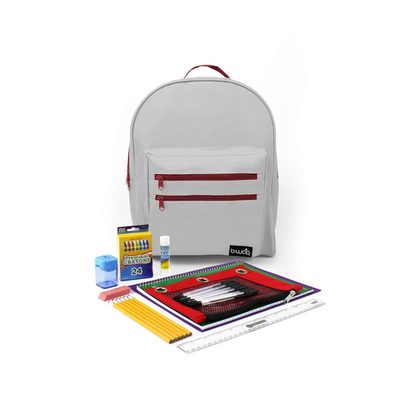 Alabaster Stone Classic Backpacks with Starter School Supply Kits Sold in Bulk