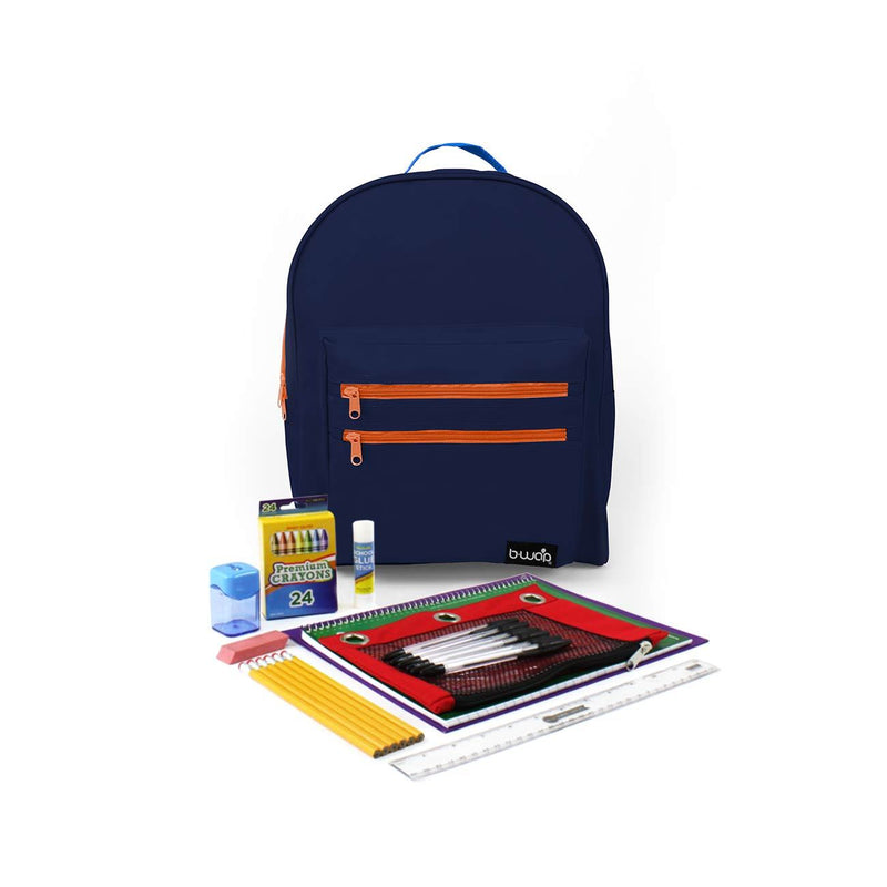 Coral Island Classic Backpacks with Starter School Supply Kits Sold in Bulk