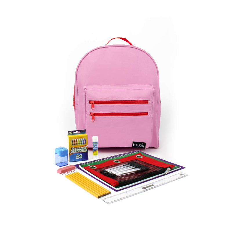 Cotton Candy Classic Backpacks with Starter School Supply Kits Sold in Bulk