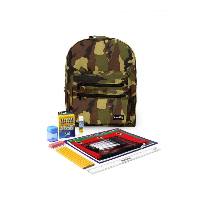 Lumberjack Classic Backpacks with Starter School Supply Kits Sold in Bulk