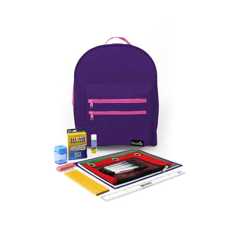 Tea Pary Classic Backpacks with Starter School Supply Kits Sold in Bulk