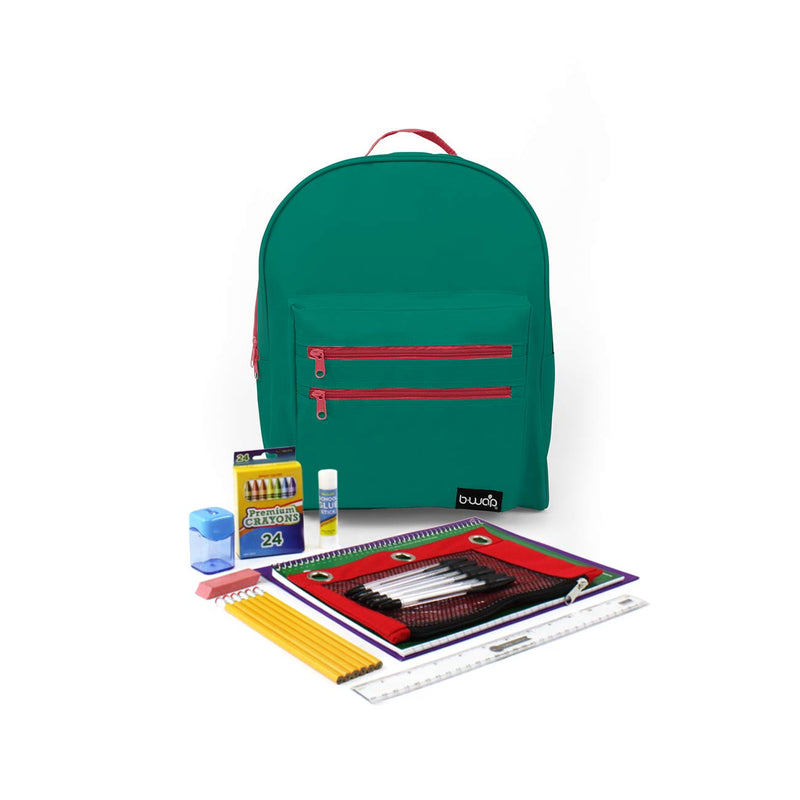 Cactus Flower Classic Backpacks with Starter School Supply Kits Sold in Bulk