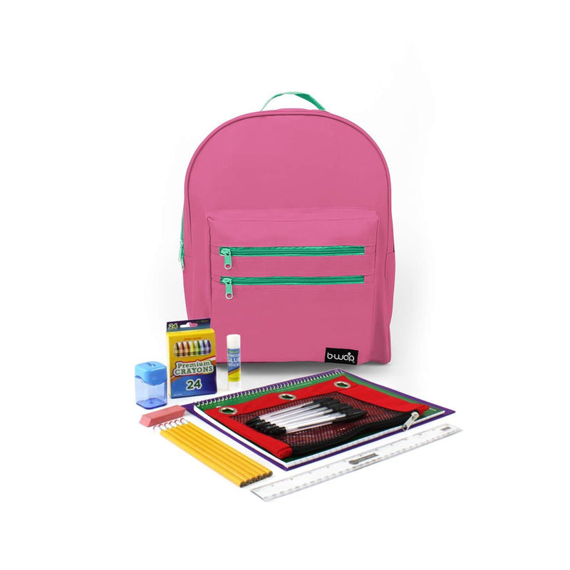 Watermelon Classic Backpacks with Starter School Supply Kits Sold in Bulk