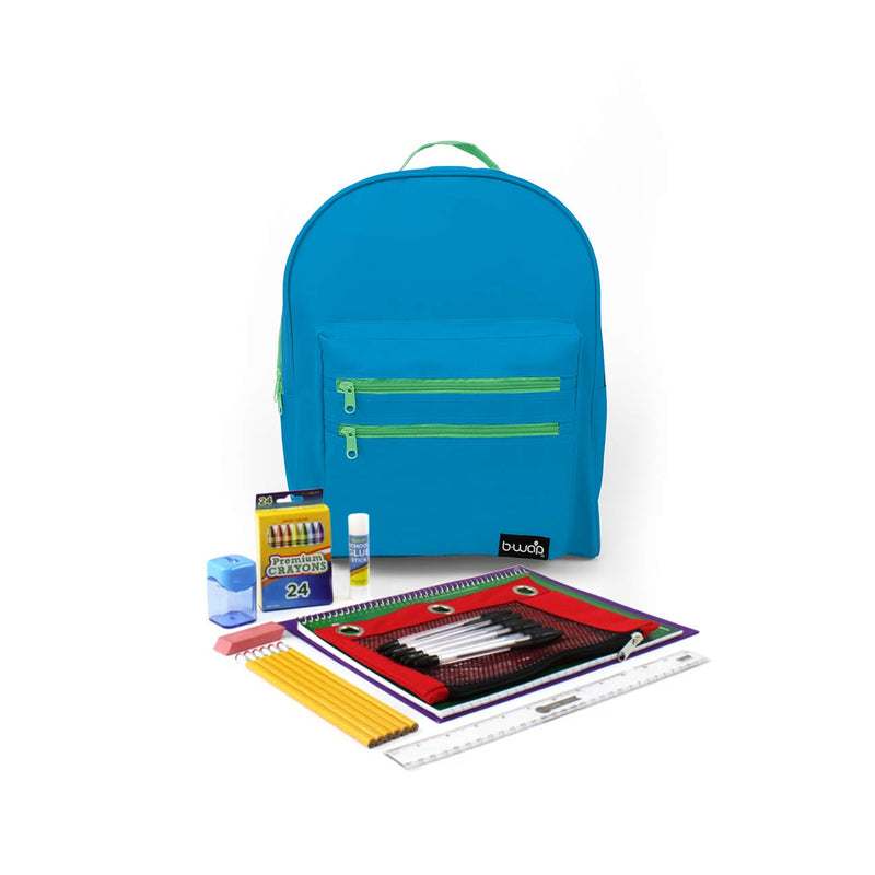 Wave Rider Classic Backpacks with Starter School Supply Kits Sold in Bulk