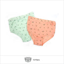 Small Discount Ladies Flower Print Briefs Sold in Bulk