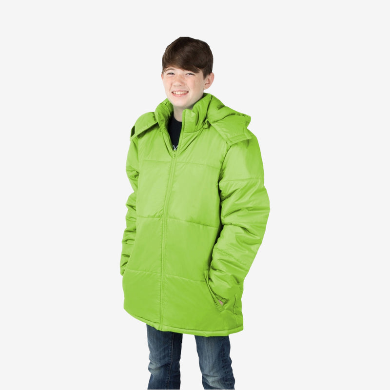 Wholesale Child Coat Classic Combo in Lime Green Sold in Bulk
