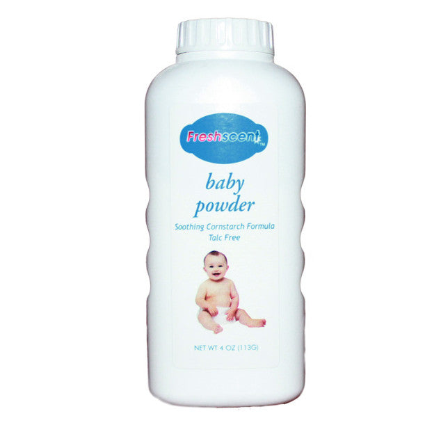 Four Ounce Talc Free Baby Powder Sold in Bulk for Personal Hygiene