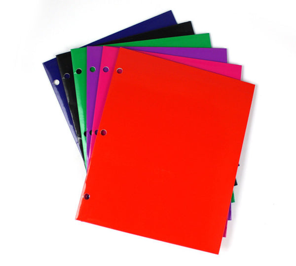 Wholesale School Supplies Glossy Folders Sold in Bulk