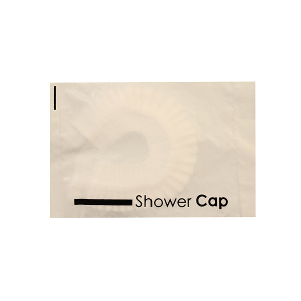 Wholesale White 18.5 Inch Shower Cap sold in Bulk