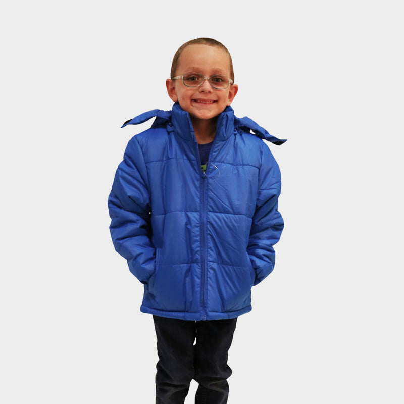 Wholesale Child Coat Classic Combo in Blue Sold in Bulk