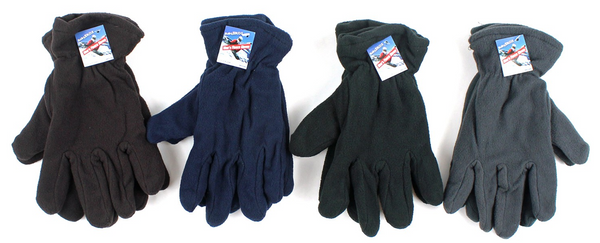 Wholesale Assorted Color Adult Winter Gloves Sold in Bulk