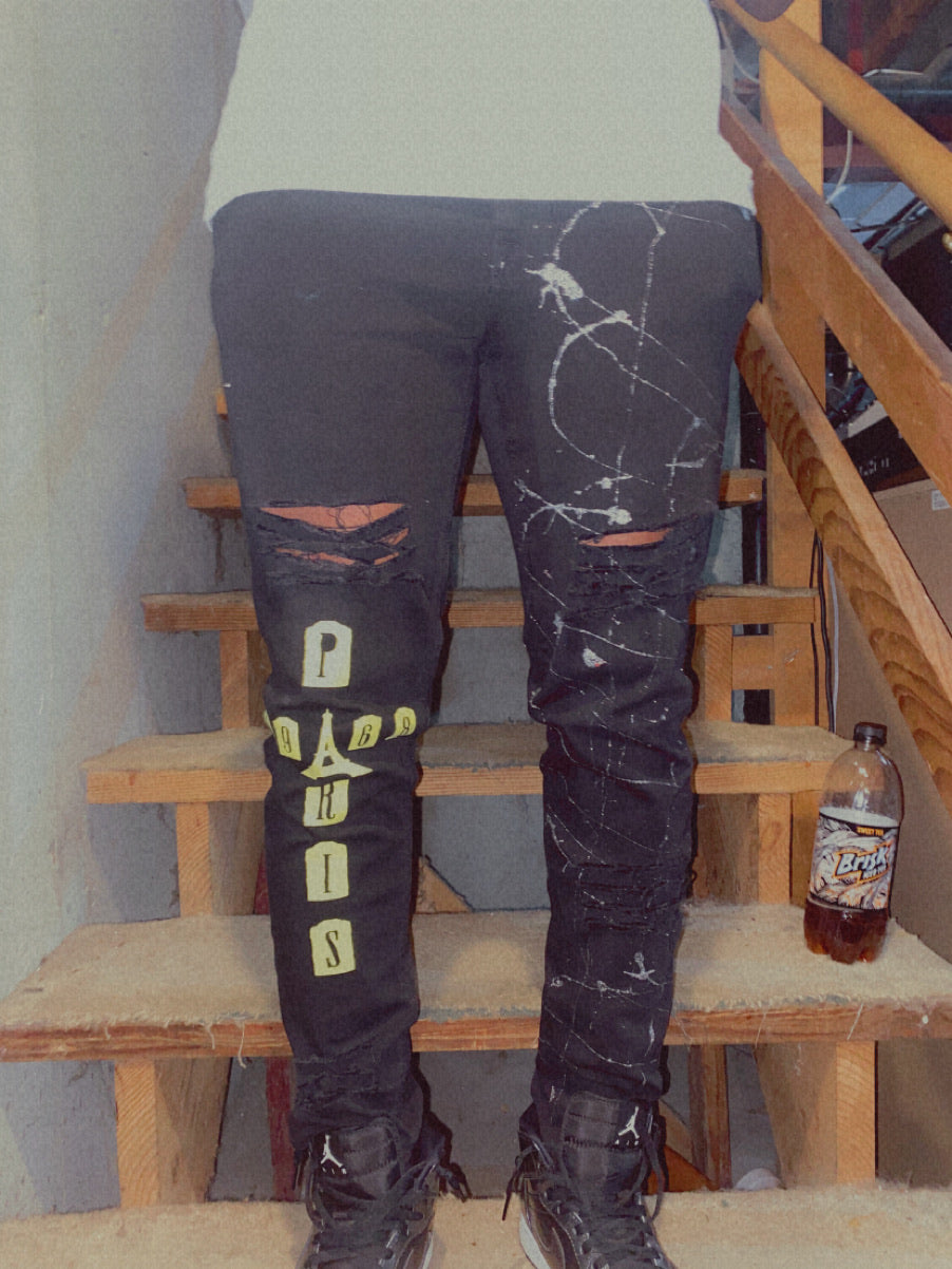 "BT LEAGUE ""BLACK IN PARIS"" JEANS"
